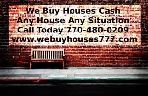 We Buy Houses Do not hit the brick wall